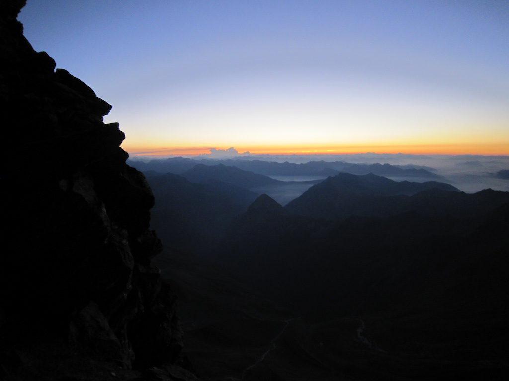 Morgendämmerung auf dem Lagginjoch