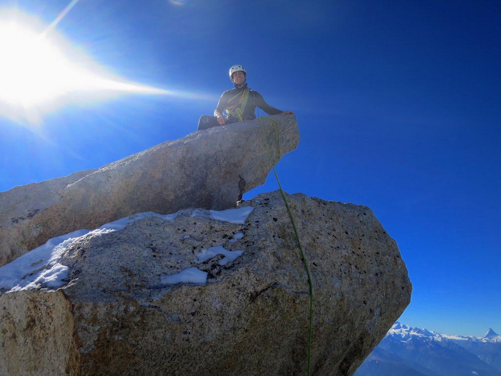 Auf der Gipfelnadel des Rotstocks
