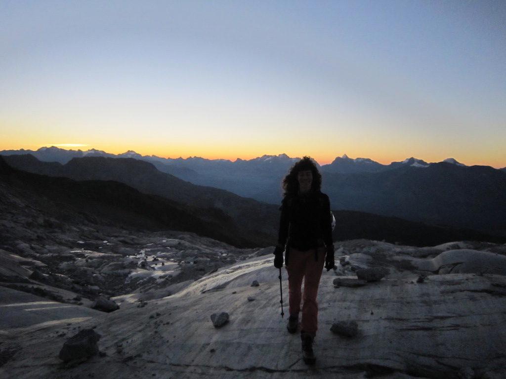 Morgendämmerung auf den Gletscherschliffplatten