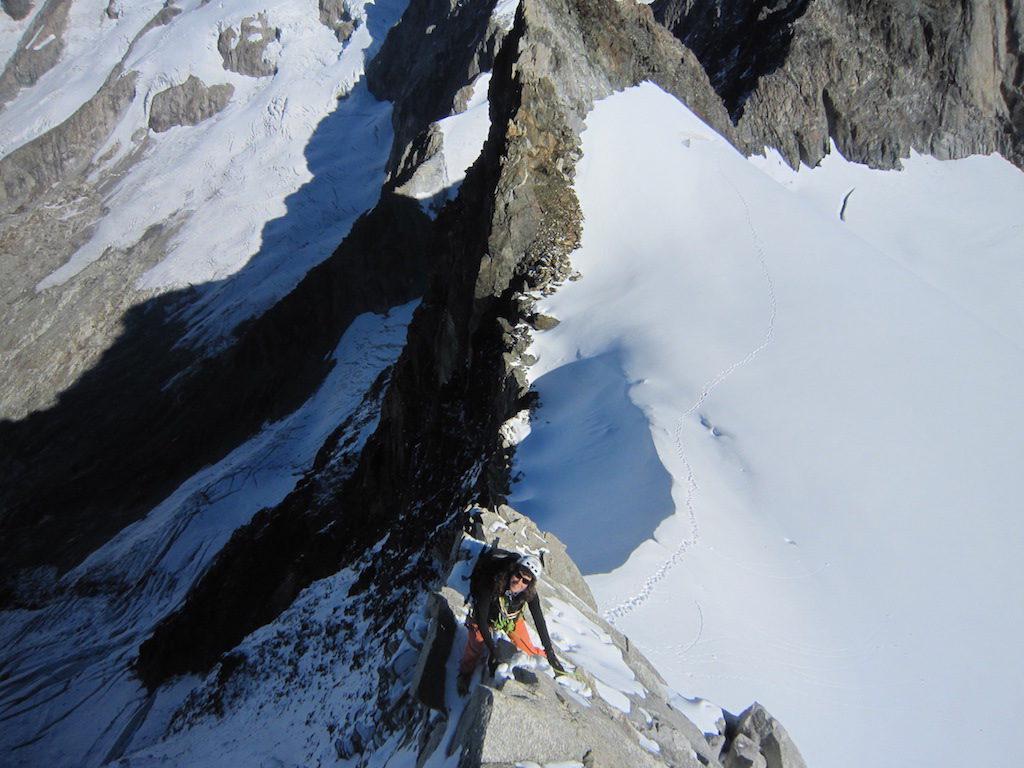 Leichte kombinierte Kletterei am Rotstock Nordgrat
