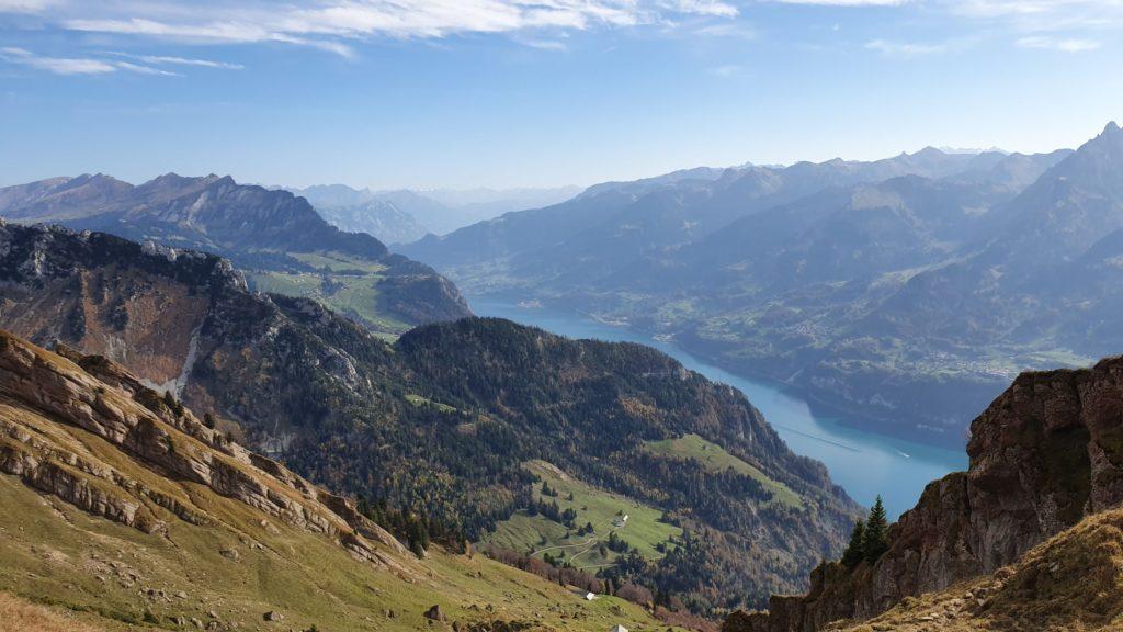 Churfirsten, Walensee Richtung Rheintal