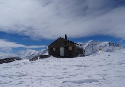 Bifertenhütte im Winter