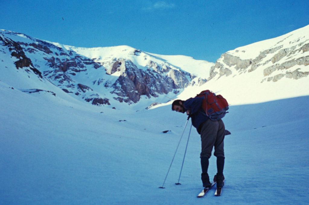 Im Skiaufstieg