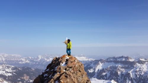 Den Gipfel des Spitzmeilen erreicht man über eine weitere kurze Kletterei.